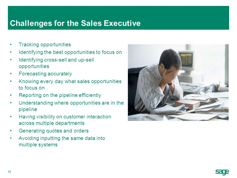 Challenges for the Sales Executive