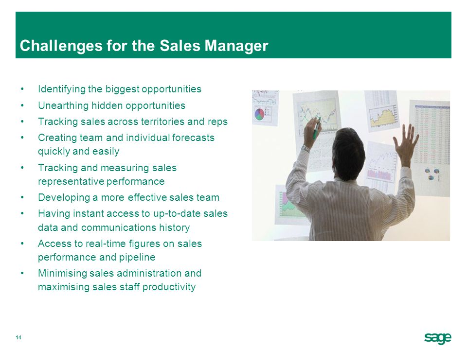 Challenges for the Sales Manager