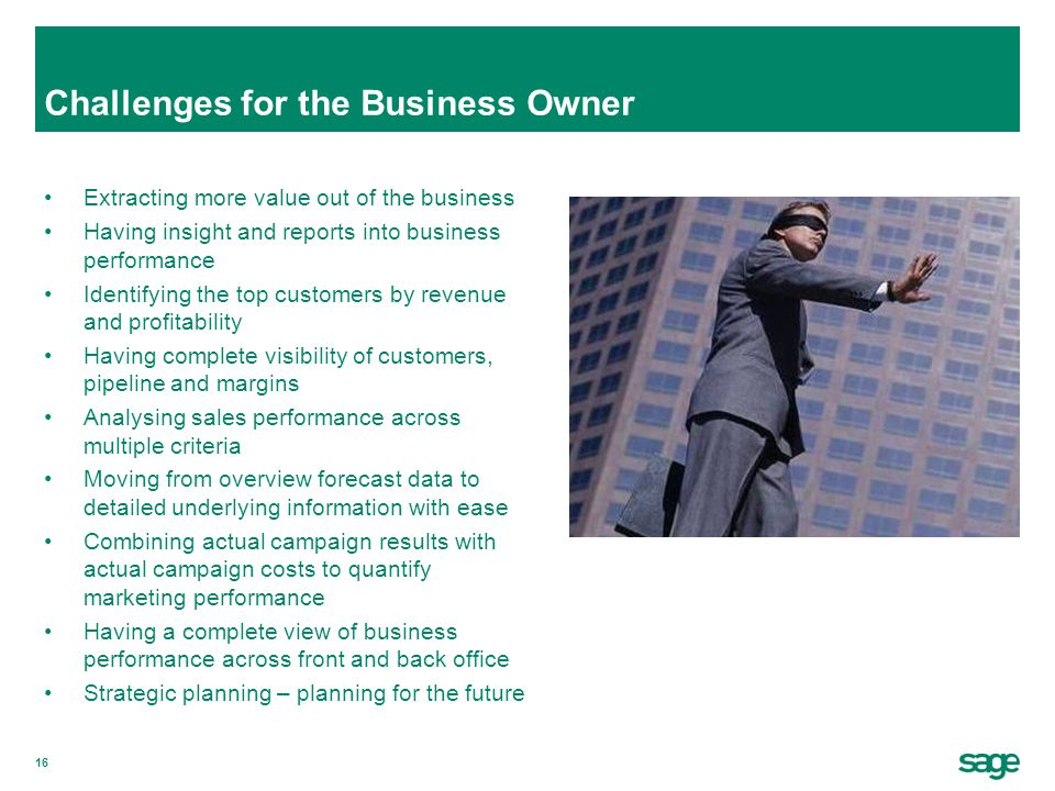Challenges for the Business Owner