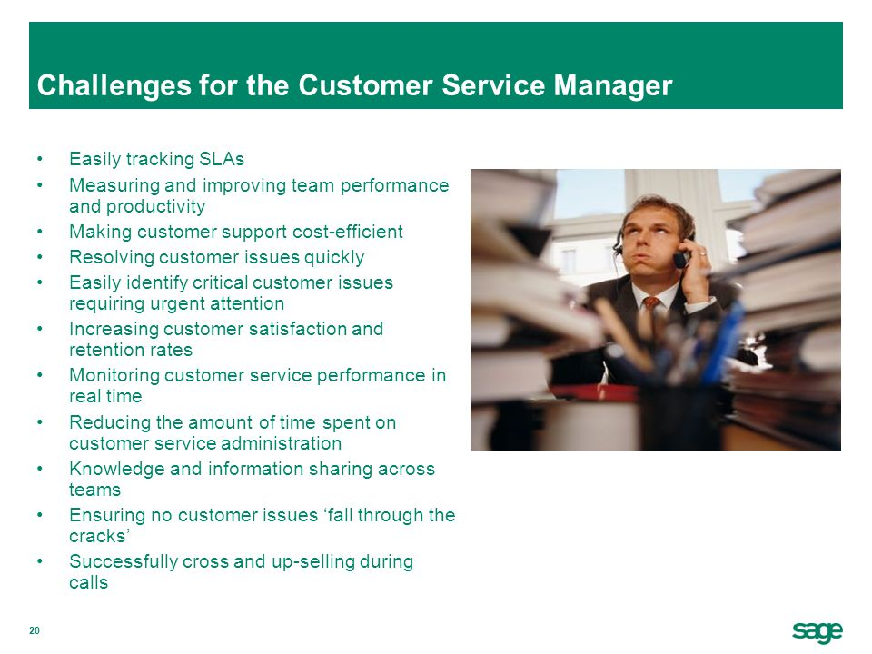 Challenges for the Customer Service Manager