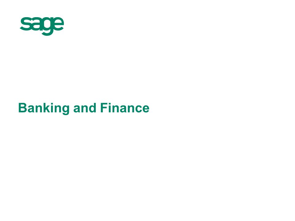 Banking and Finance