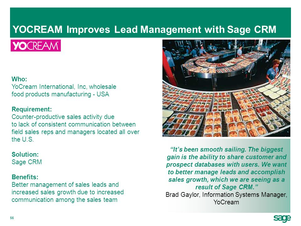 YOCREAM Improves Lead Management with Sage CRM