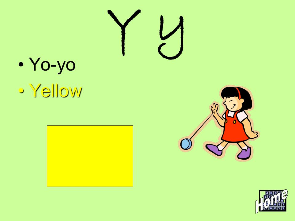 Y y Yo-yo Yellow Home