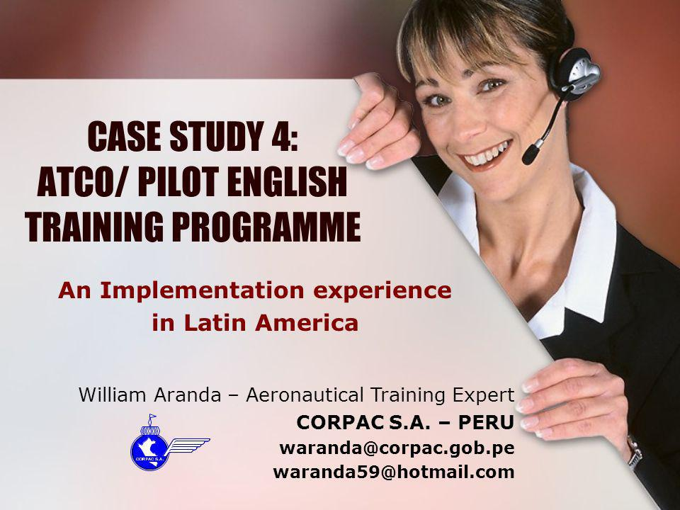 CASE STUDY 4: ATCO/ PILOT ENGLISH TRAINING PROGRAMME