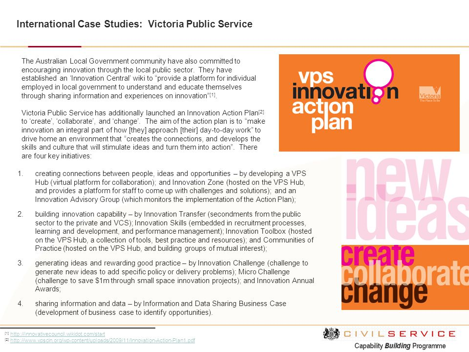 International Case Studies: Victoria Public Service