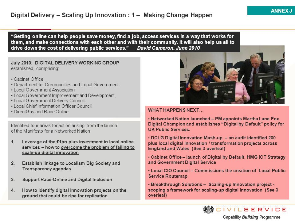 Digital Delivery – Scaling Up Innovation : 1 – Making Change Happen