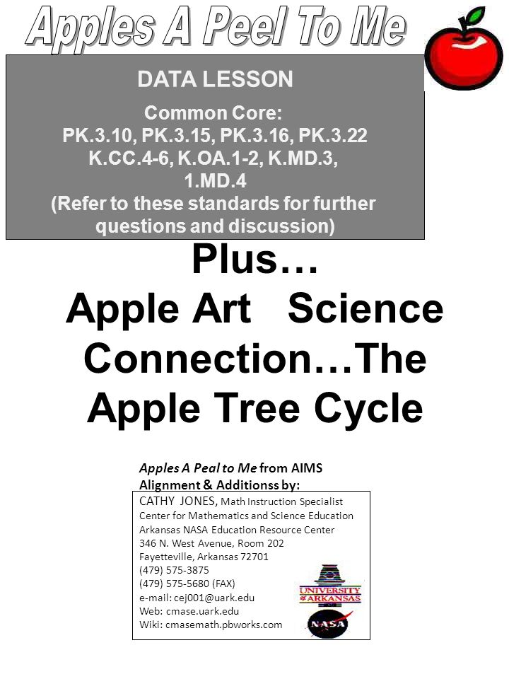 Plus… Apple Art Science Connection…The Apple Tree Cycle