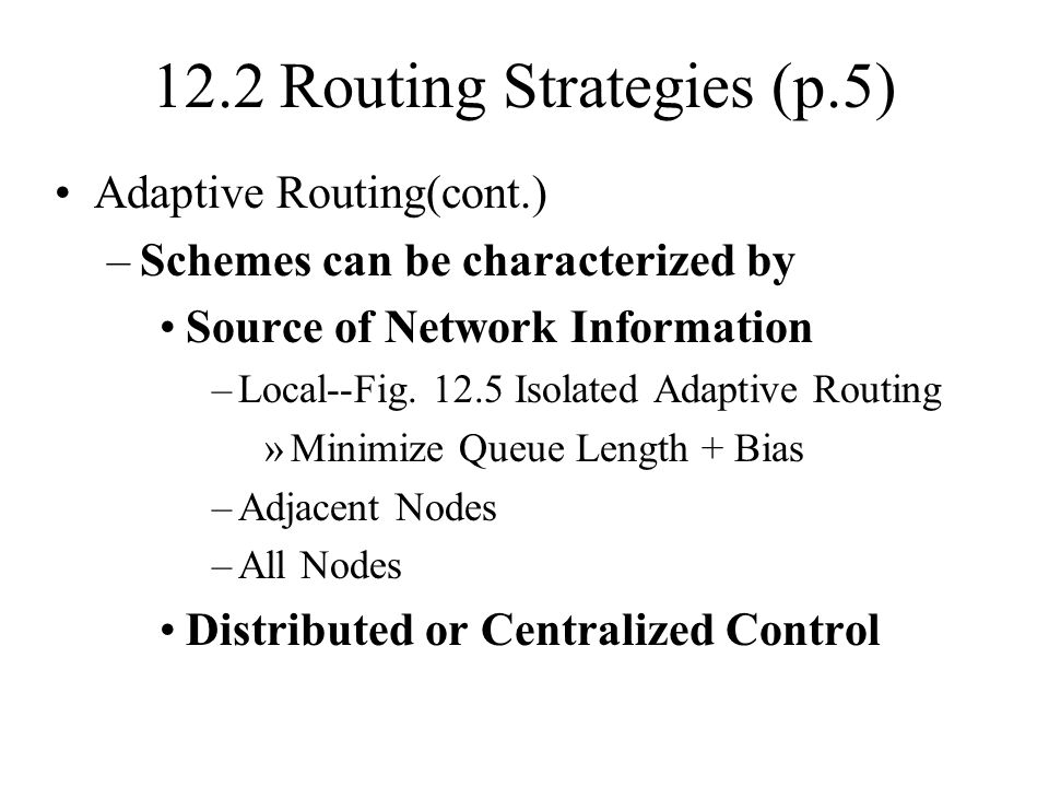 12.2 Routing Strategies (p.5)