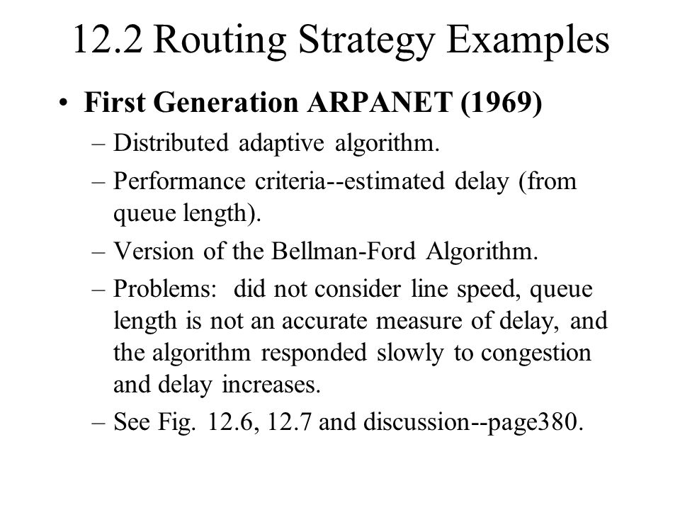 12.2 Routing Strategy Examples