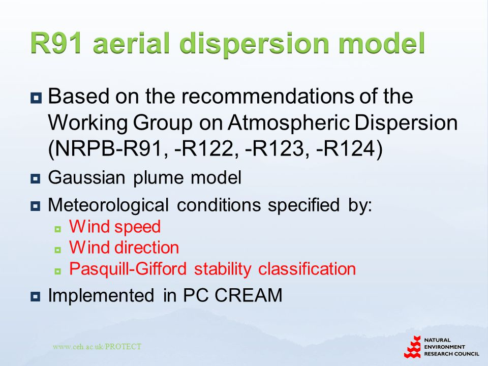 R91 aerial dispersion model