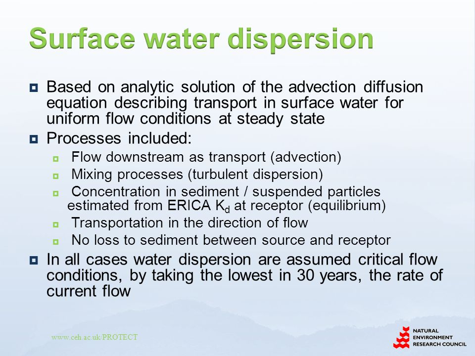Surface water dispersion