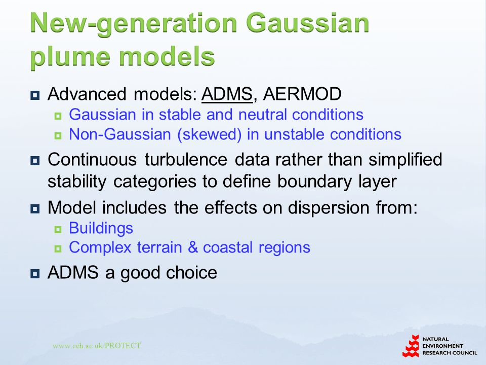 New-generation Gaussian plume models