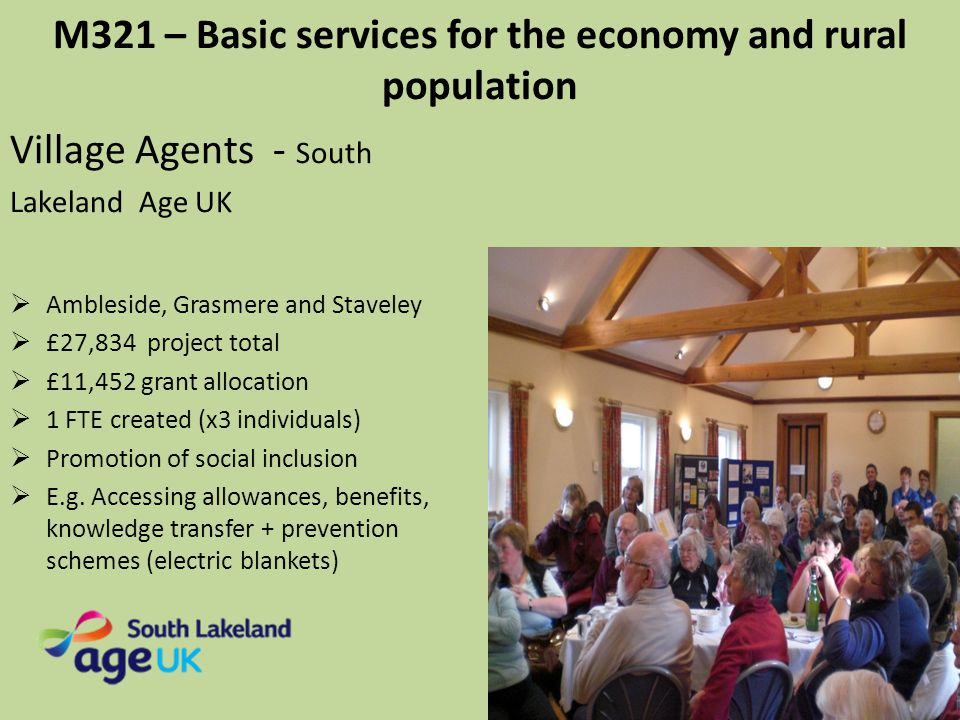 M321 – Basic services for the economy and rural population