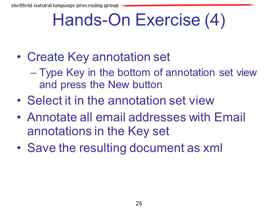 Hands-On Exercise (4) Create Key annotation set