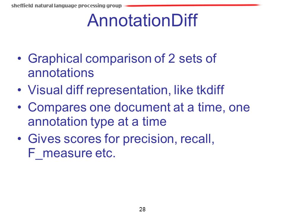 AnnotationDiff Graphical comparison of 2 sets of annotations