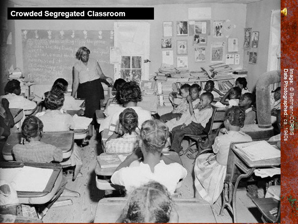 Crowded Segregated Classroom