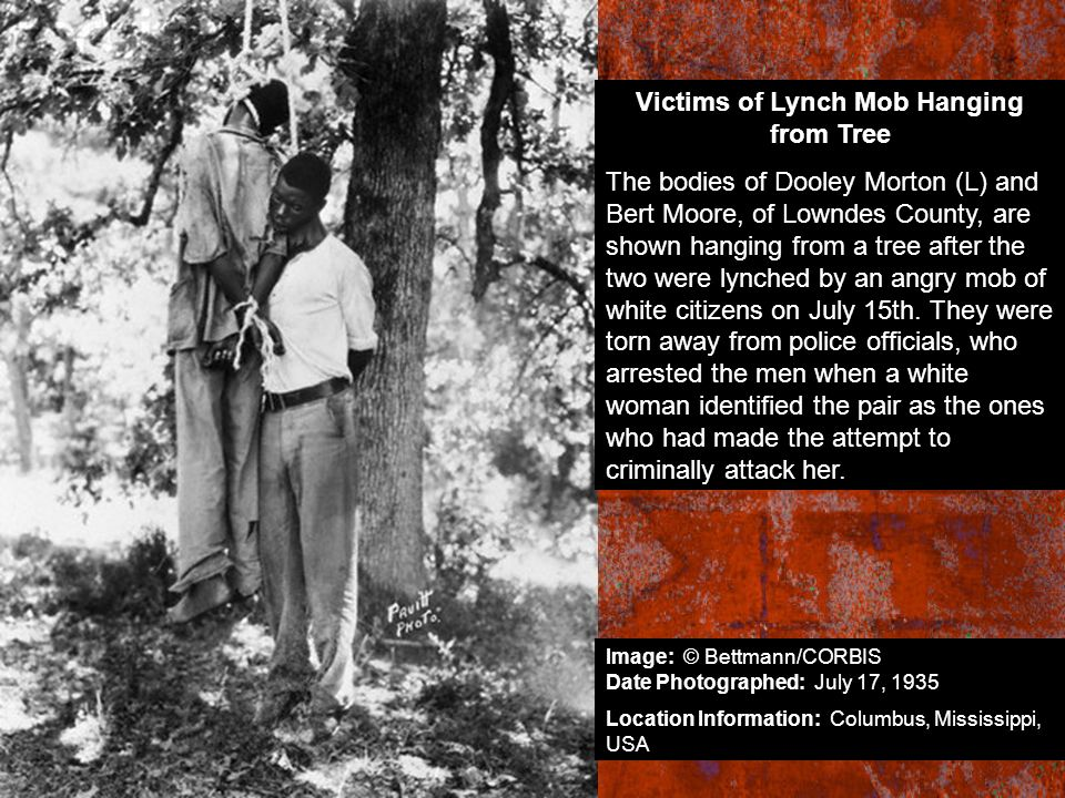 Victims of Lynch Mob Hanging from Tree