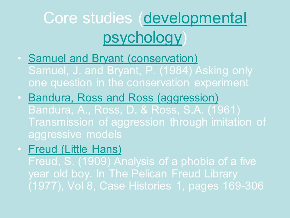 Core studies (developmental psychology)