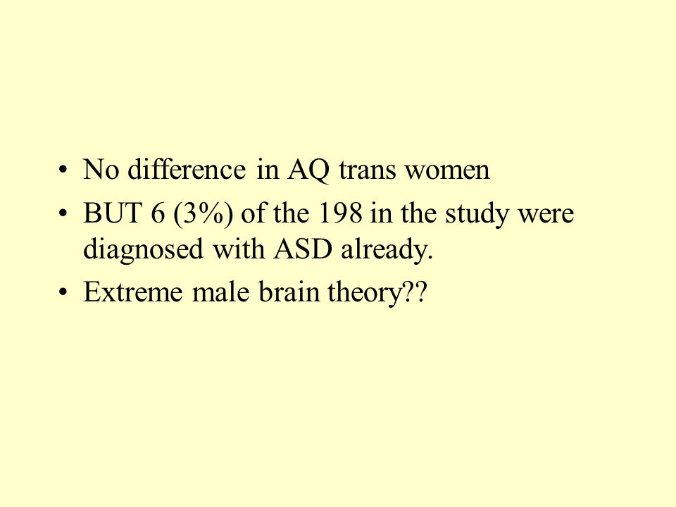 No difference in AQ trans women