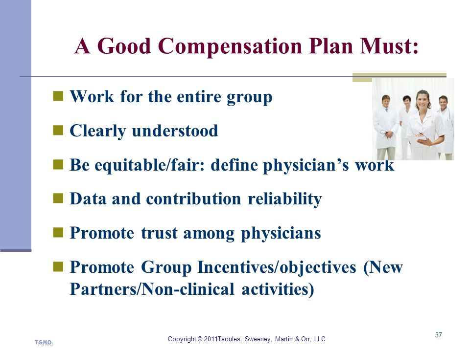 A Good Compensation Plan Must: