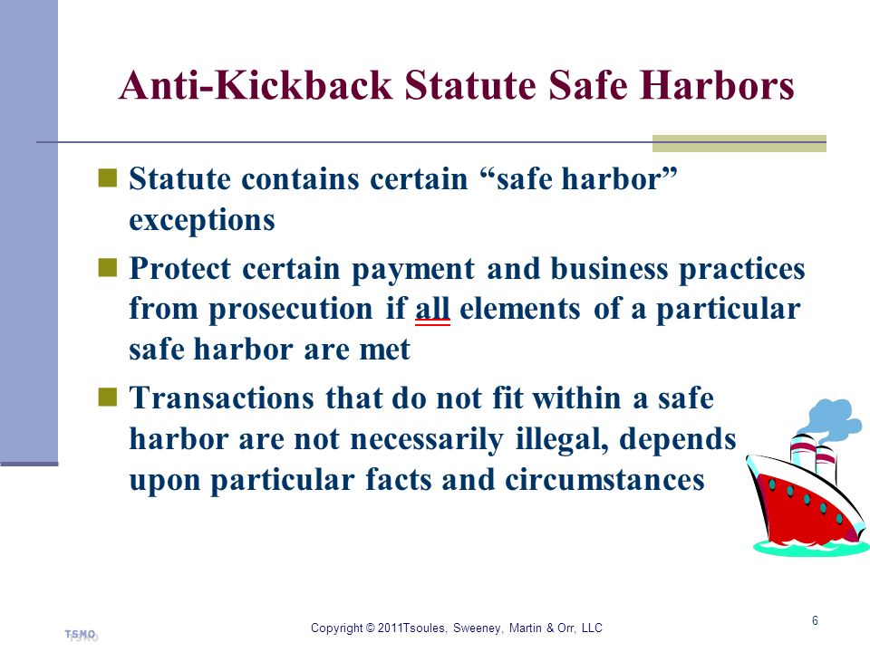 Anti-Kickback Statute Safe Harbors