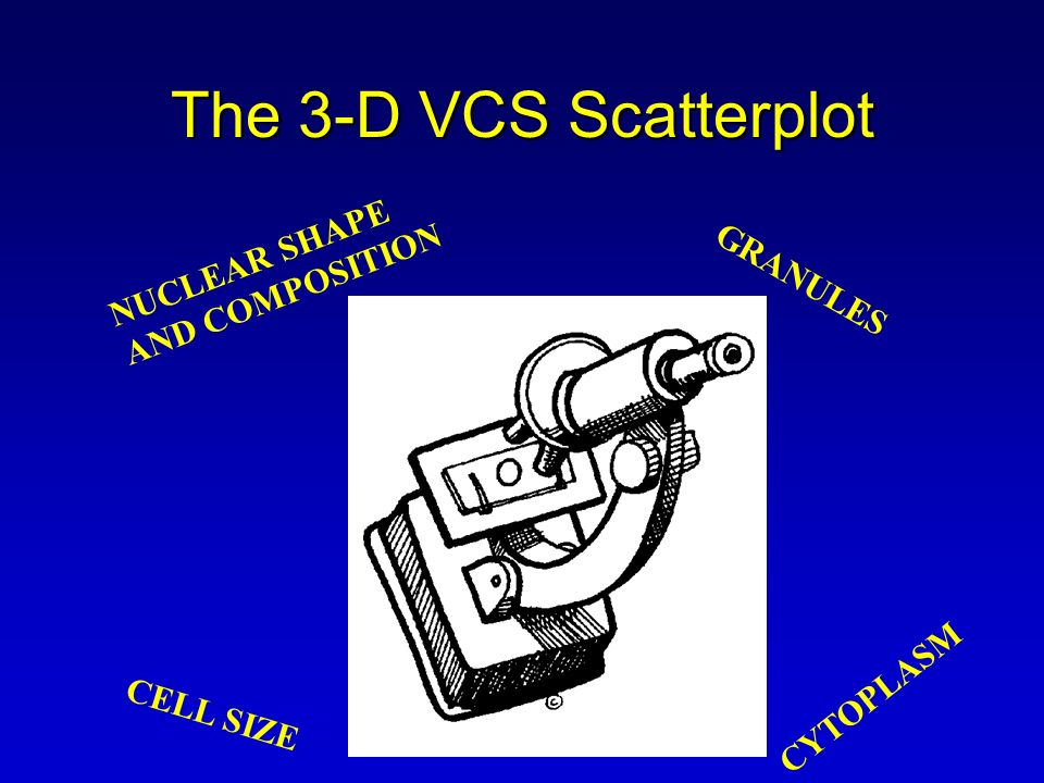 The 3-D VCS Scatterplot NUCLEAR SHAPE AND COMPOSITION GRANULES
