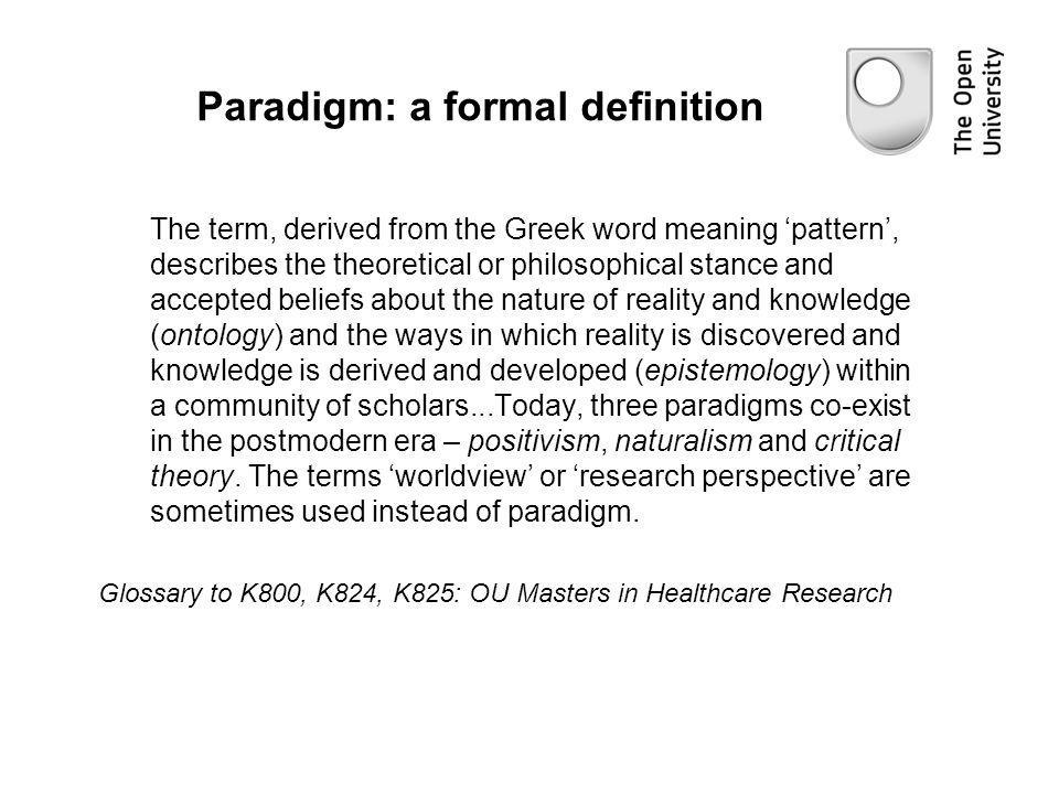 Paradigm: a formal definition
