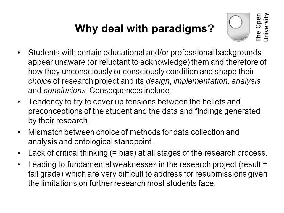 Why deal with paradigms