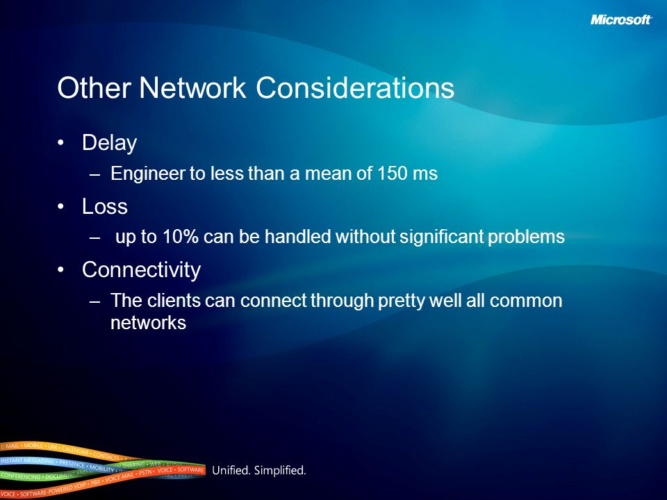 Other Network Considerations