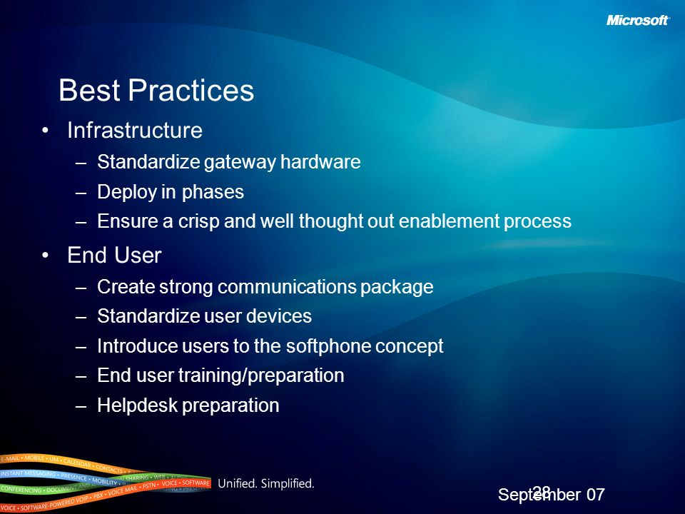 Best Practices Infrastructure End User Standardize gateway hardware