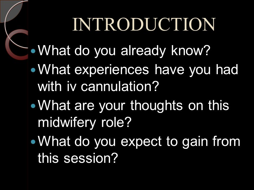 INTRODUCTION What do you already know
