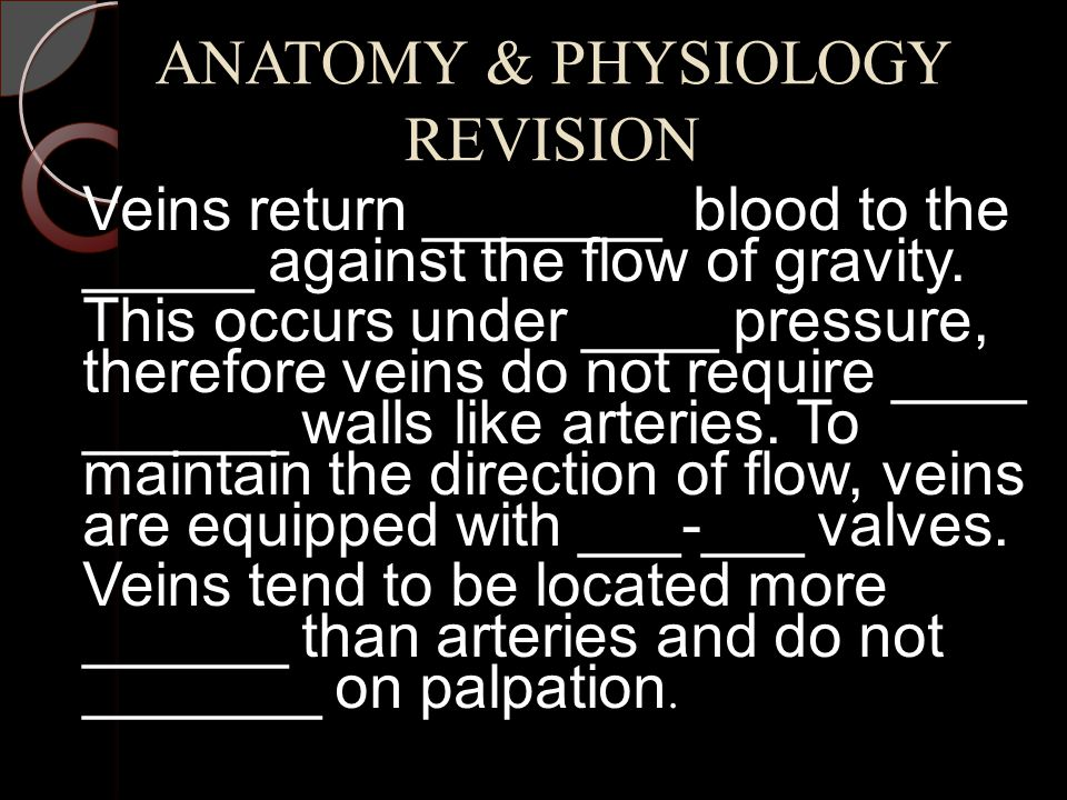 ANATOMY & PHYSIOLOGY REVISION