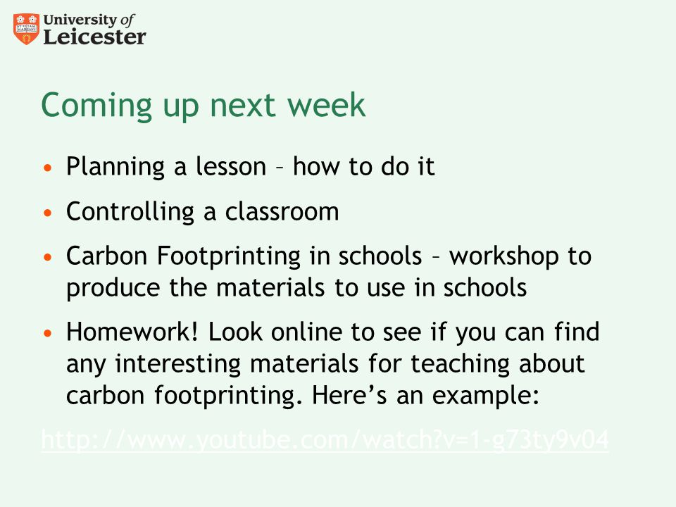 Coming up next week Planning a lesson – how to do it