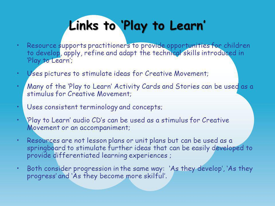 Links to 'Play to Learn'
