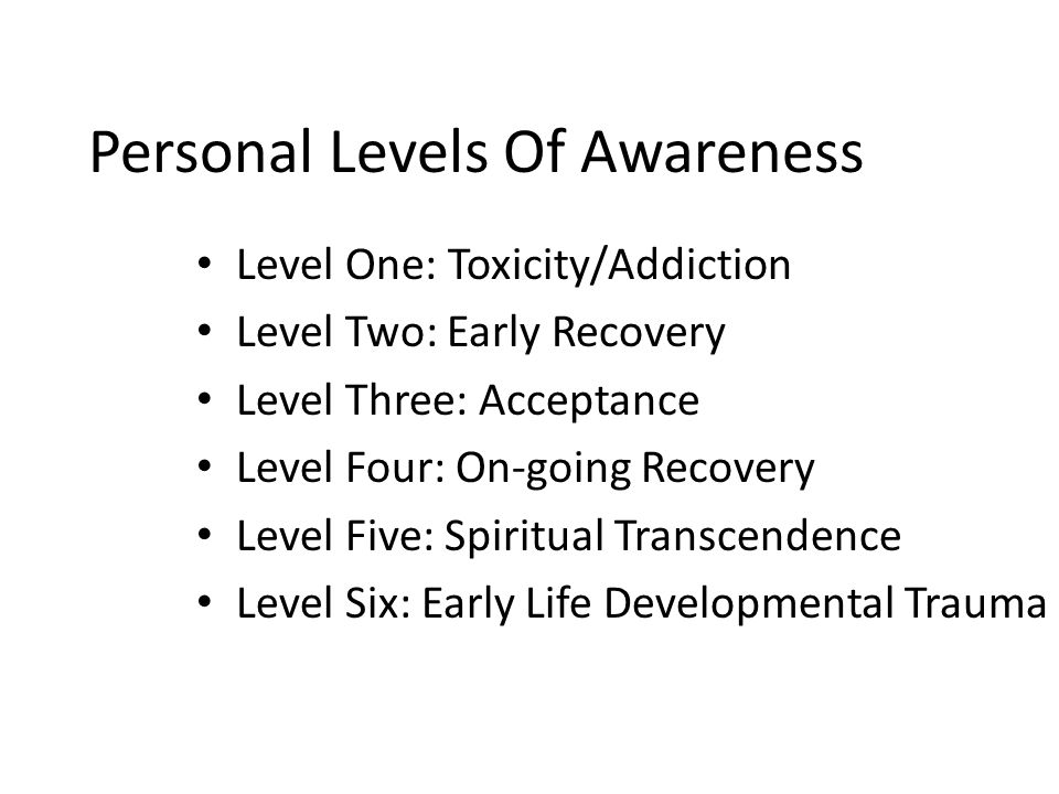 Personal Levels Of Awareness