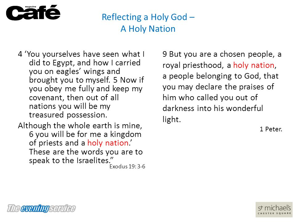Reflecting a Holy God – A Holy Nation