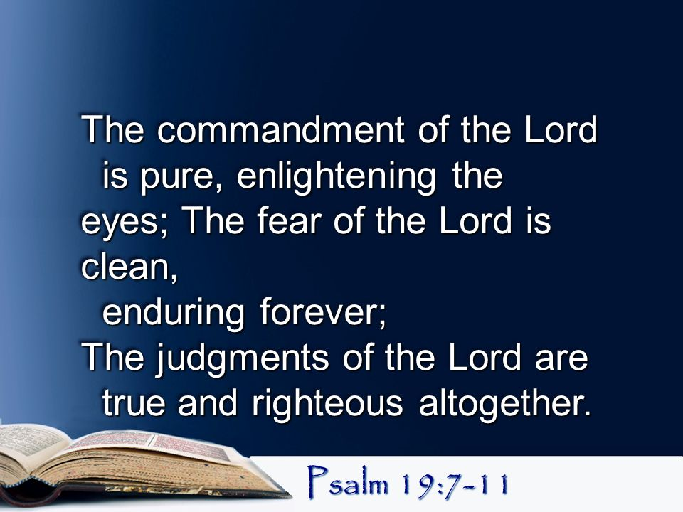 The commandment of the Lord