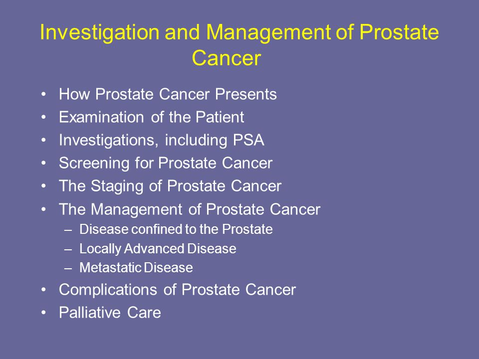 State-of-the-art management of advanced prostate cancer ppt.
