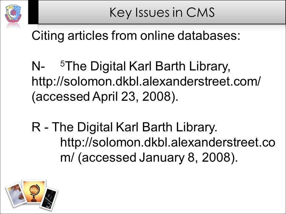 Citing articles from online databases: