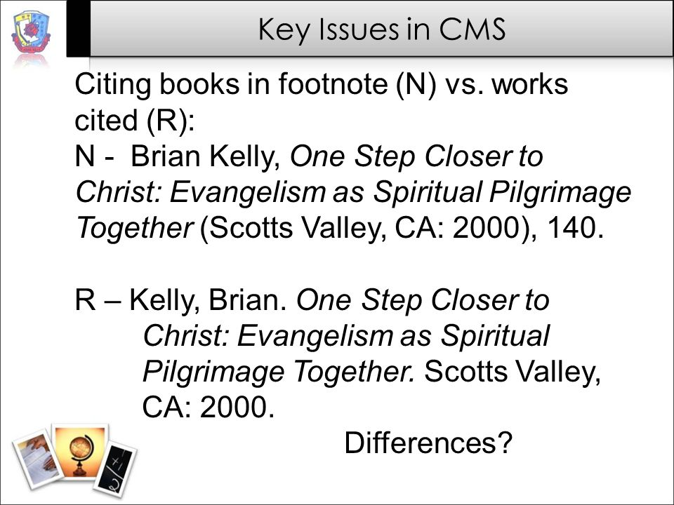 Citing books in footnote (N) vs. works cited (R):