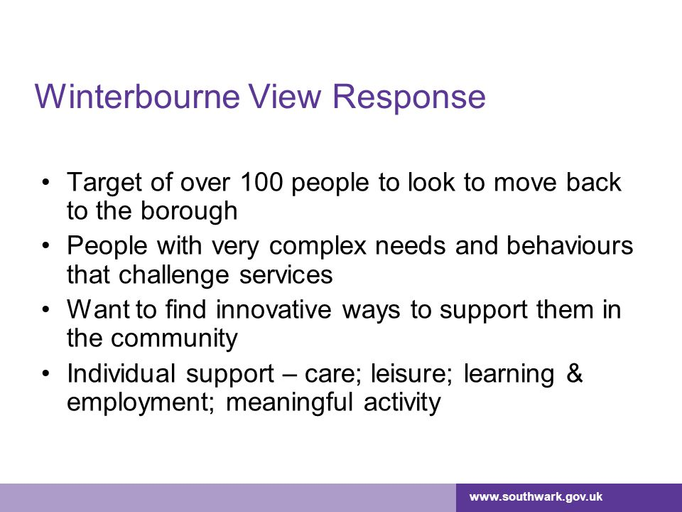 Winterbourne View Response