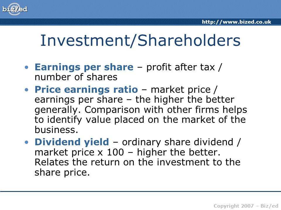 Investment/Shareholders