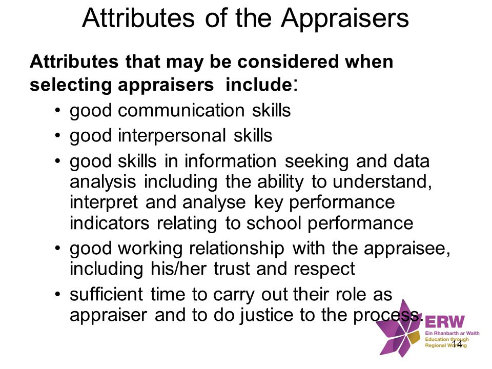 Attributes of the Appraisers