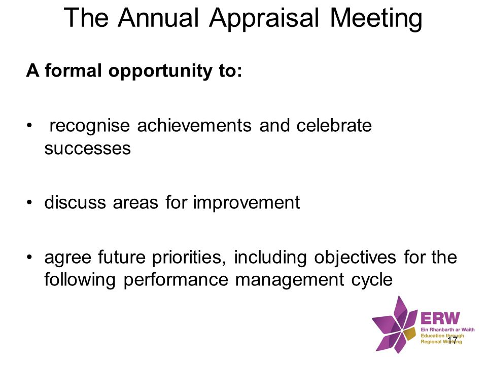 The Annual Appraisal Meeting