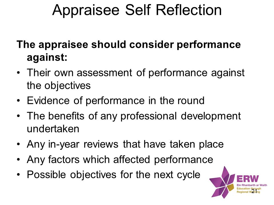 Appraisee Self Reflection