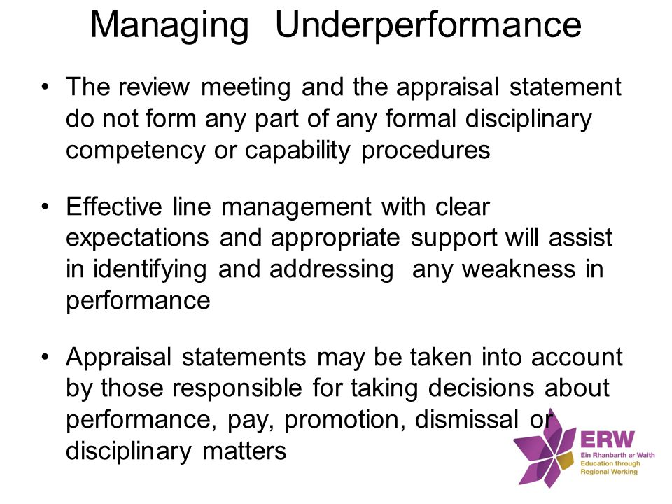 Managing Underperformance