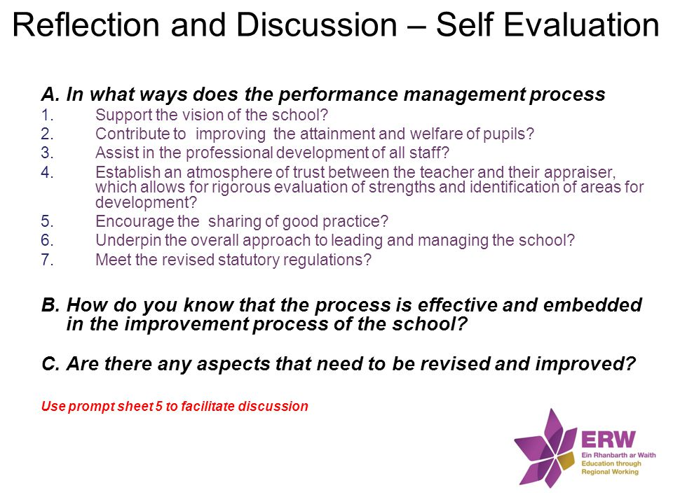 Reflection and Discussion – Self Evaluation