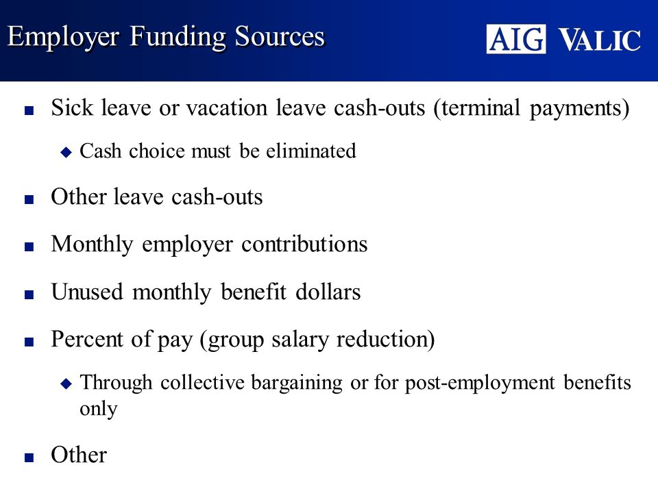 Employer Funding Sources