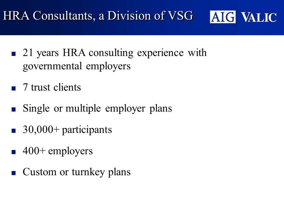 HRA Consultants, a Division of VSG