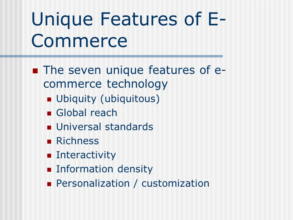 7 unique features of ecommerce technology